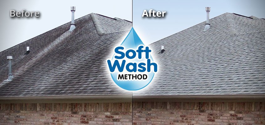 Soft Wash Roof Stain Cleaning in Central TX